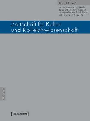 cover image of Serie Zeitschrift für Kultur- und Kollektivwissenschaft, Buch 9