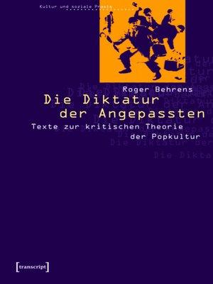 cover image of Die Diktatur der Angepassten