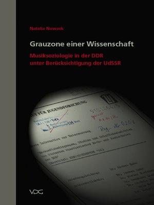 cover image of Grauzone einer Wissenschaft