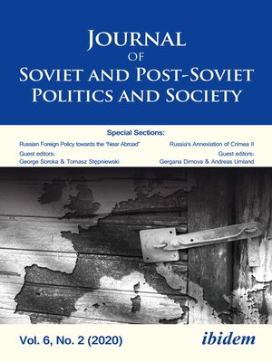 cover image of Journal of Soviet and Post-Soviet Politics and Society