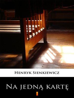cover image of Na jedną kartę