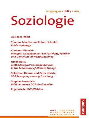 cover image of Soziologie 3.2013