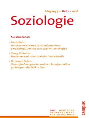 cover image of Soziologie 1.2008