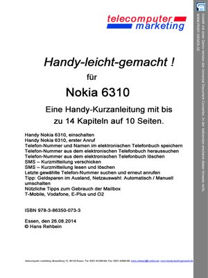 cover image of Nokia 6310-leicht-gemacht