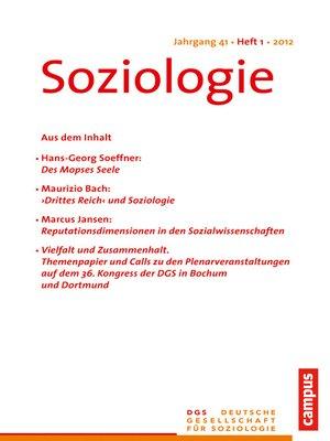 cover image of Soziologie 1.2012