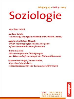 cover image of Soziologie 4.2014