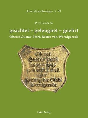 cover image of geachtet – geleugnet – geehrt