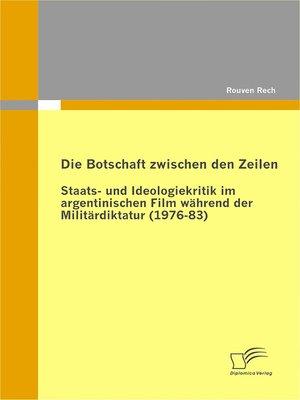 cover image of Die Botschaft zwischen den Zeilen