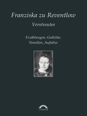 cover image of Franziska zu Reventlow