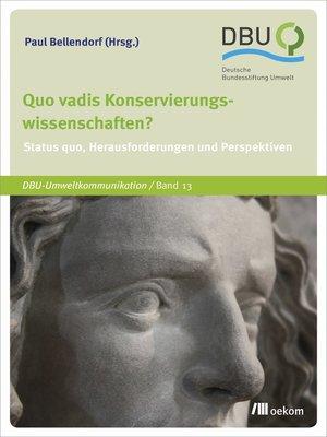 cover image of Quo vadis Konservierungswissenschaften?