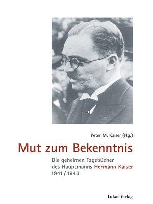 cover image of Mut zum Bekenntnis