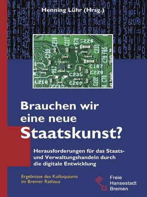 cover image of Brauchen wir eine neue Staatskunst?