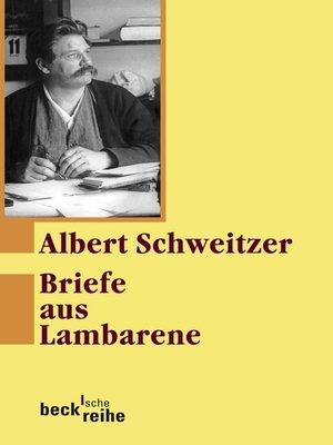 cover image of Briefe aus Lambarene
