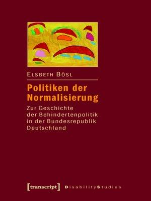 cover image of Politiken der Normalisierung