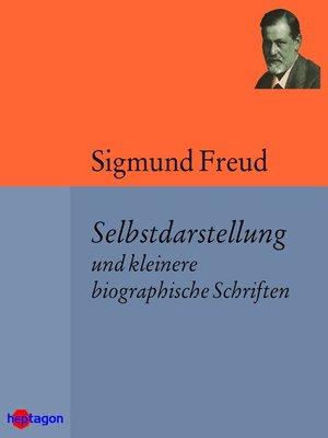 cover image of Selbstdarstellung und kleinere biographische Schriften