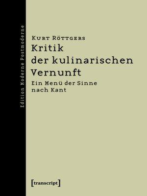 cover image of Kritik der kulinarischen Vernunft