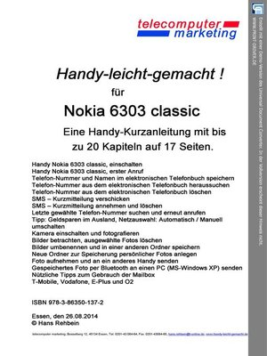 cover image of Nokia 6303 classic-leicht-gemacht