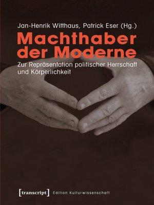 cover image of Machthaber der Moderne