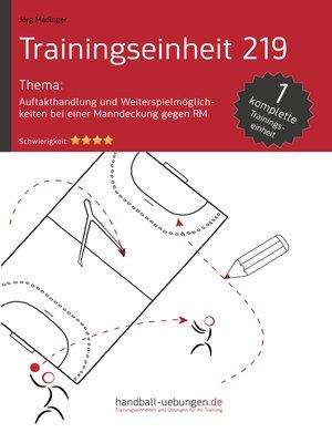 cover image of Auftakthandlung und Weiterspielmöglichkeiten bei einer Manndeckung gegen RM (TE 219)