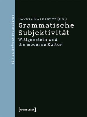 cover image of Grammatische Subjektivität