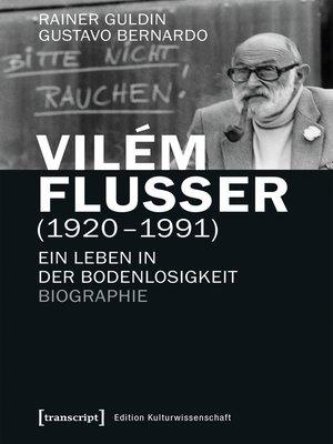 cover image of Vilém Flusser (1920-1991)