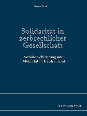 cover image of Solidarität in zerbrechlicher Gesellschaft