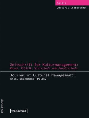cover image of Zeitschrift für Kulturmanagement