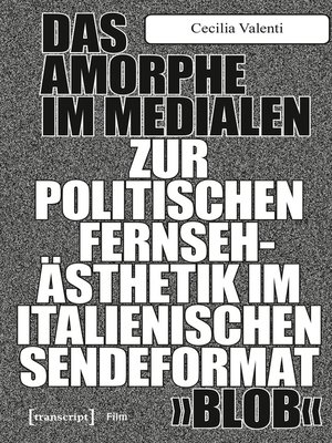 cover image of Das Amorphe im Medialen