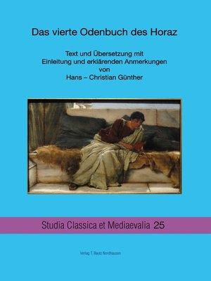cover image of Das vierte Odenbuch des Horaz