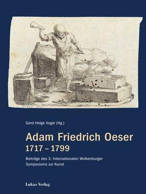 cover image of Adam Friedrich Oeser 1717–1799