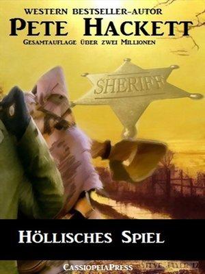 cover image of Höllisches Spiel (Western)