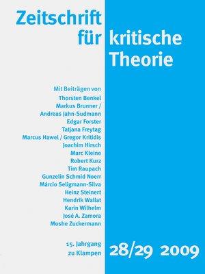 cover image of Zeitschrift für kritische Theorie / Zeitschrift für kritische Theorie, Heft 28/29