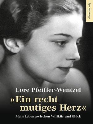 """cover image of """"Ein recht mutiges Herz"""""""