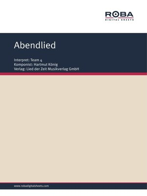 cover image of Abendlied