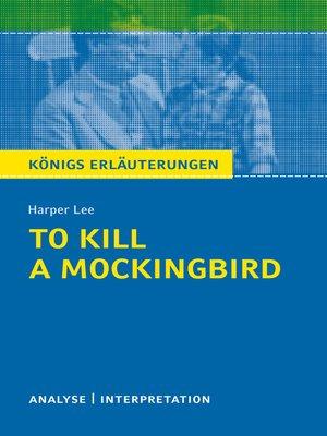 cover image of To Kill a Mockingbird. Königs Erläuterungen.