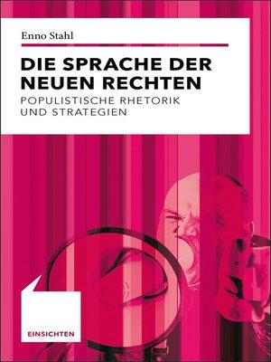 cover image of Die Sprache der Neuen Rechten