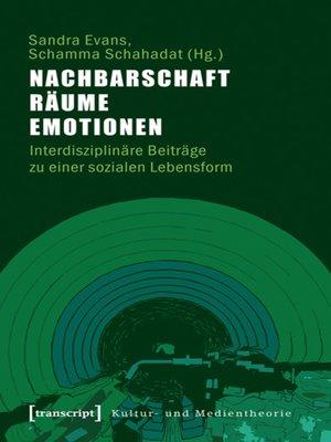 cover image of Nachbarschaft, Räume, Emotionen