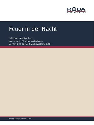 cover image of Feuer in der Nacht