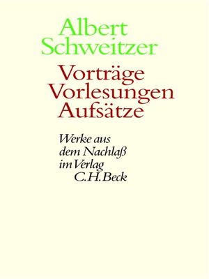 cover image of Vorträge, Vorlesungen, Aufsätze