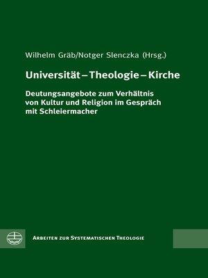 cover image of Universität – Theologie – Kirche