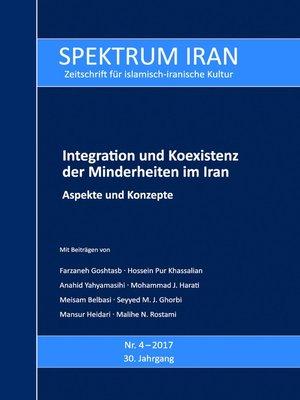 cover image of Integration und Koexistenz der Minderheiten im Iran
