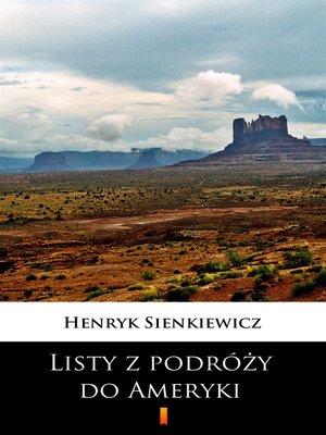 cover image of Listy z podróży do Ameryki