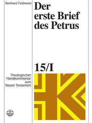 cover image of Der erste Brief des Petrus