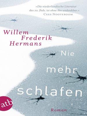 cover image of Nie mehr schlafen
