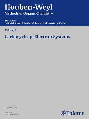 cover image of Houben-Weyl Methods of Organic Chemistry Volume V/2c