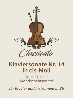 cover image of Klaviersonate Nr. 14 in cis-Moll