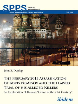 cover image of The February 2015 Assassination of Boris Nemtsov and the Flawed Trial of his Alleged Killers