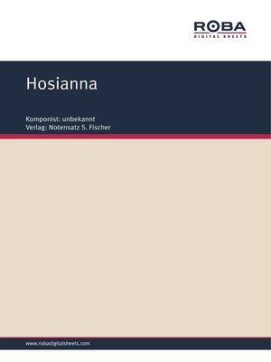 cover image of Hosianna