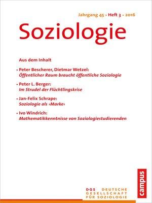 cover image of Soziologie 3.2016