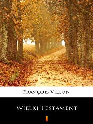cover image of Wielki Testament